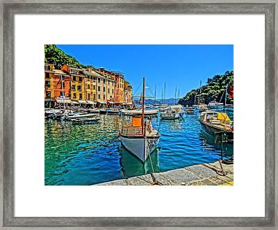 Enchanting Portofino In Ligure Italy Iv Framed Print by M Bleichner