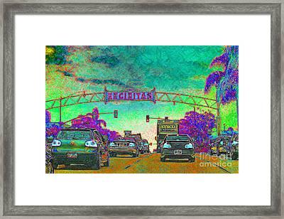 Encinitas California 5d24221p180 Framed Print by Wingsdomain Art and Photography