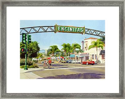 Encinitas California Framed Print by Mary Helmreich