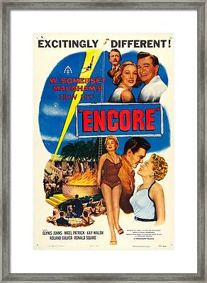 Encore, Us Poster, Bottom From Left Framed Print by Everett