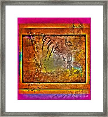 Encounter With The 5th Dimension Framed Print by Susanne Van Hulst