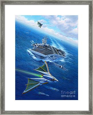 Encountering Atlantis Framed Print by Stu Shepherd