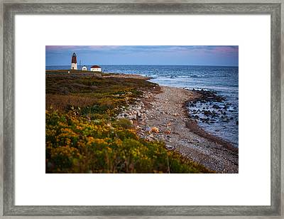 End Of Day At Point Judith Framed Print by Karol Livote