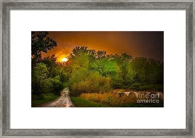 End Of Days Framed Print by Ken Marsh
