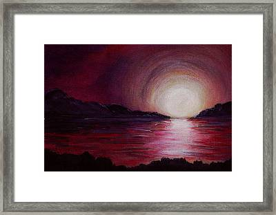 End Of The Day Framed Print by Anastasiya Malakhova