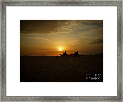 End Of The Day In Sahara Framed Print by Rossitsa Dimitrova