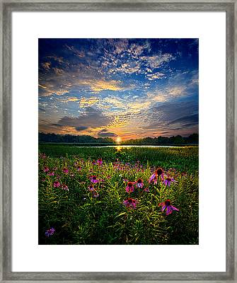End Of The Night Framed Print by Phil Koch