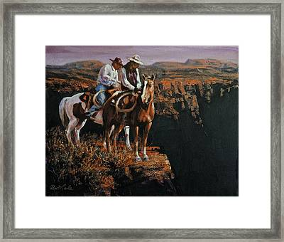 End Of The Trail Framed Print by Mia DeLode