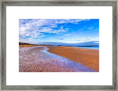 Endless Beach Sands - North Berwick Scottish Seaside Framed Print by Mark E Tisdale