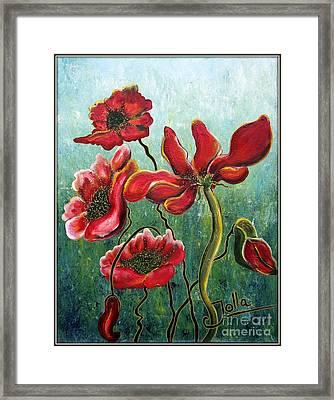 Endless Poppy Love Framed Print by Jolanta Anna Karolska