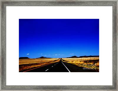 Endless Roads In New Mexico Framed Print by Susanne Van Hulst
