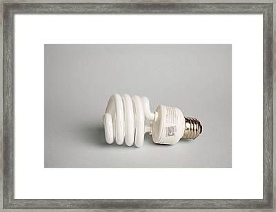 Energy Efficient Light Bulb Framed Print by Jim West