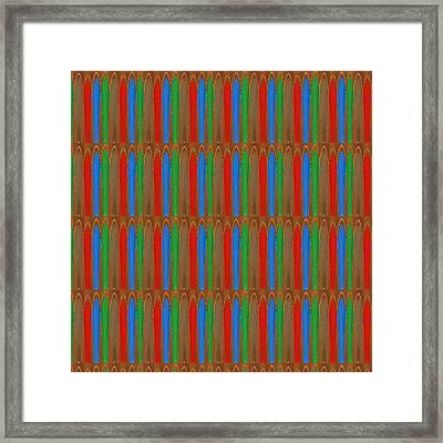Energy Filled Colorful Cool Kool Design Pattern Signature Art Design Textures And Color Combinations Framed Print by Navin Joshi