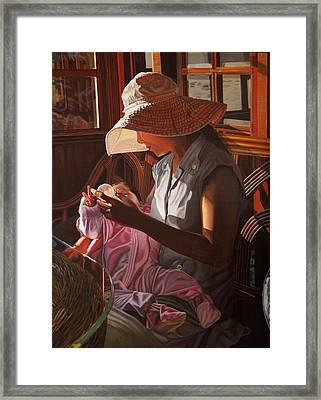 Enfamil At Ha Long Bay Vietnam Framed Print by Thu Nguyen
