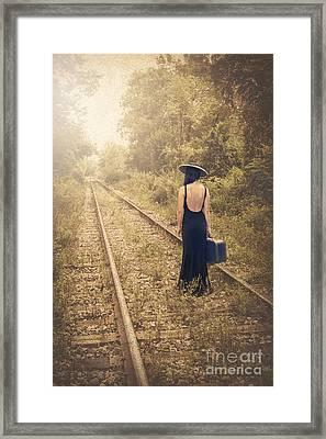 Engaged With Destiny Framed Print by Evelina Kremsdorf