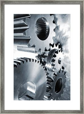 Engineering And Technology Gears Framed Print by Christian Lagereek