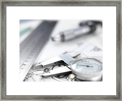 Engineering Design Framed Print by Tek Image