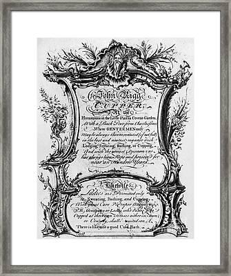 England: Cupper, 1700s Framed Print by Granger