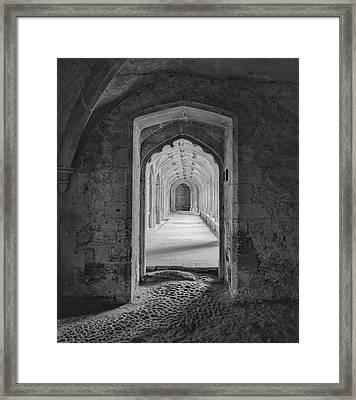 England, Lacock Abby, Entryway Framed Print by John Ford