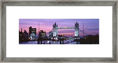 England, London, Tower Bridge Framed Print by Panoramic Images