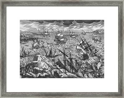England S Great Storm Framed Print by English School