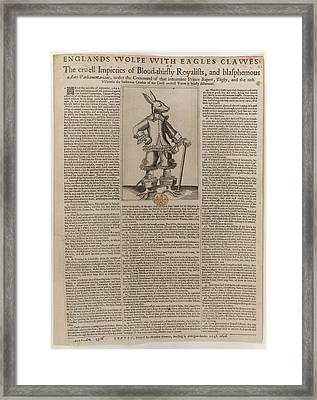 England's Wolfe Framed Print by British Library