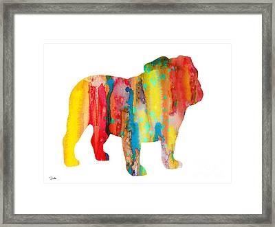 English Bulldog Framed Print by Luke and Slavi