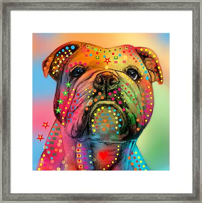 English Bulldog Framed Print by Mark Ashkenazi