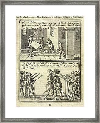 English Civil War Scenes Framed Print by British Library