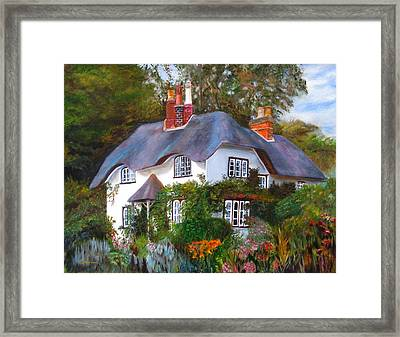 English Cottage Framed Print by LaVonne Hand