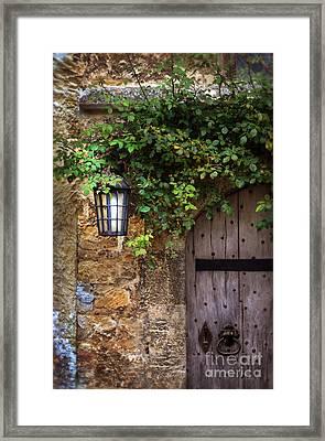 English Door Framed Print by Jill Battaglia