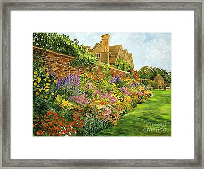English Estate Gardens Framed Print by David Lloyd Glover