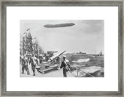 English Fleet Off Ostend Framed Print by Library Of Congress