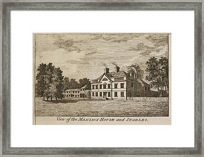 English Mansion House And Stables Framed Print by British Library