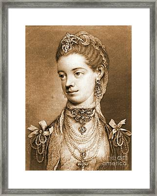 English Queen Charlotte 1762 Framed Print by Padre Art