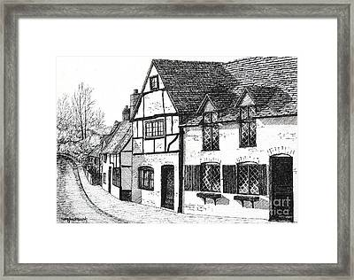 English Village Framed Print by Shirley Miller