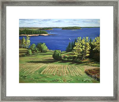 Englishmans Bay Framed Print by Rosemarie Morelli