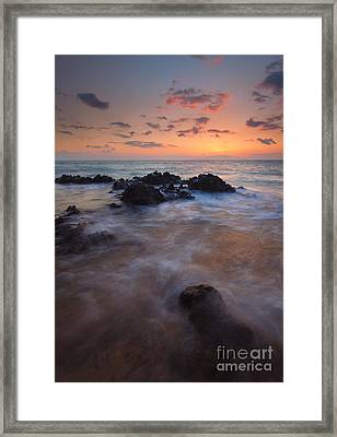Engulfed By The Waves Framed Print by Mike  Dawson