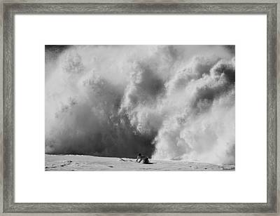 Engulfed Framed Print by Sean Davey
