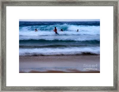 enjoy the ocean I Framed Print by Hannes Cmarits