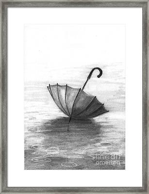 Enjoy The Raindrops Framed Print by J Ferwerda