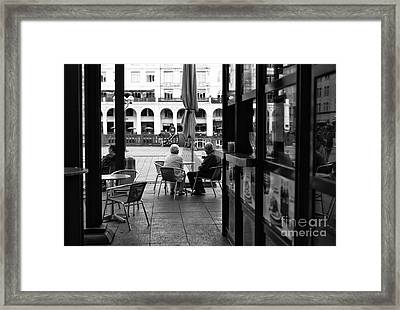 Enjoying Our Day Mono Framed Print by John Rizzuto