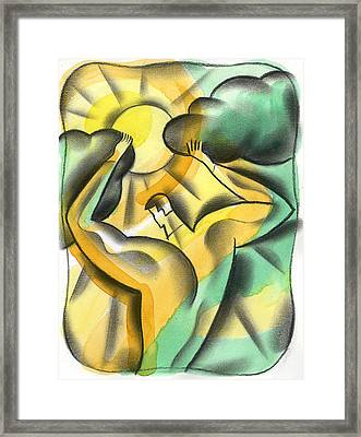 Enlighten Framed Print by Leon Zernitsky