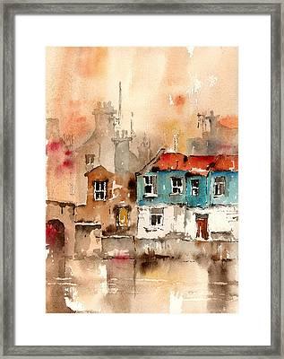 Ennistymon Reflections Framed Print by Val Byrne