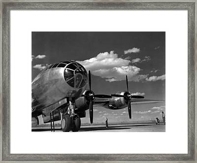 Enola Gay On Runway Framed Print by Retro Images Archive