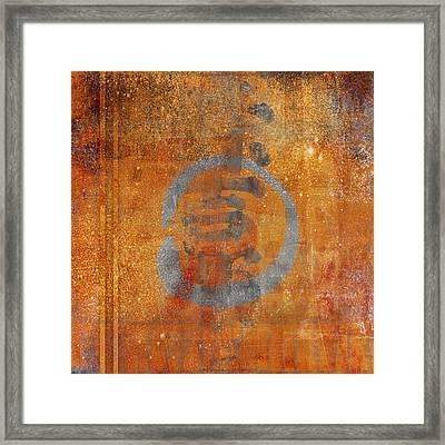 Enso Circle Framed Print by Carol Leigh