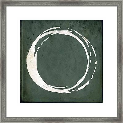 Enso No. 107 Green Framed Print by Julie Niemela