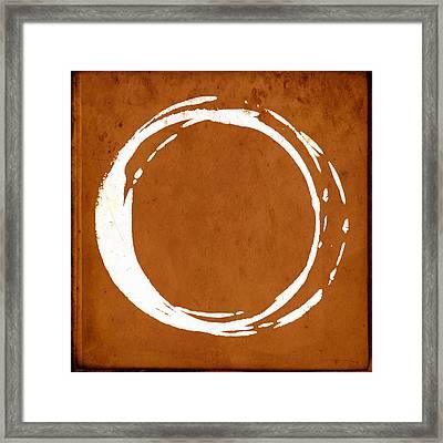 Enso No. 107 Orange Framed Print by Julie Niemela