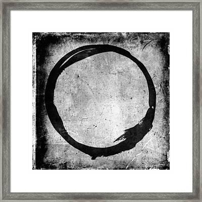 Enso No. 109 Black On White Framed Print by Julie Niemela