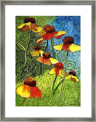 Entangled Garden Framed Print by Jo-Anne Gazo-McKim